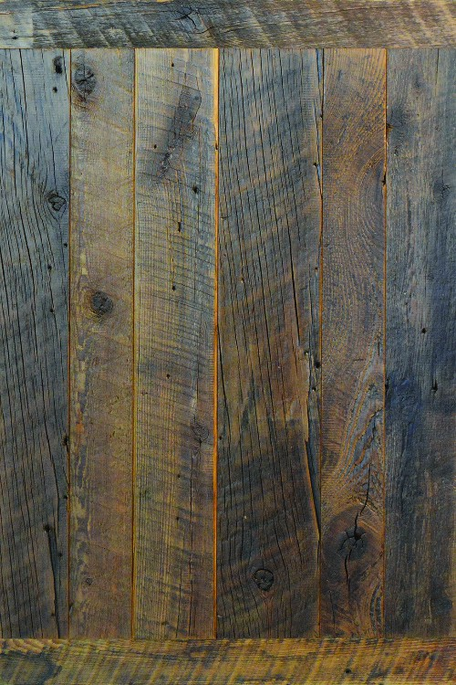Reclaimed Pine with Clear Finish