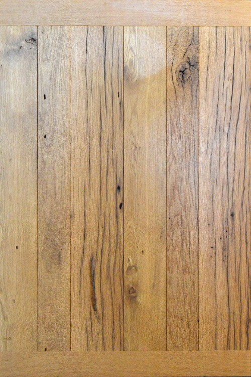 Reclaimed White Oak with Clear Finish