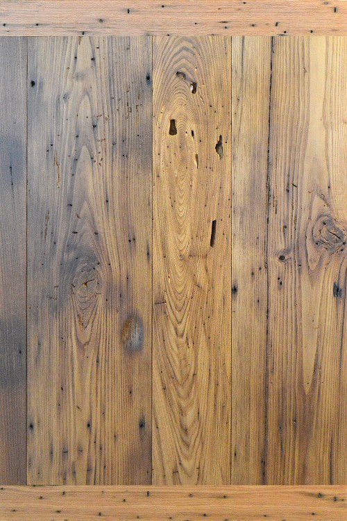 Reclaimed Wormy Chestnut with Clear Finish