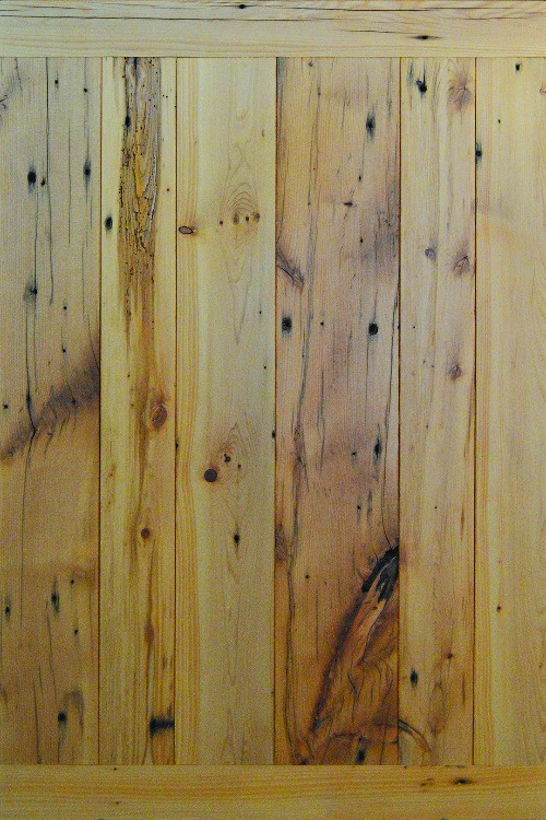 Smooth Reclaimed Pine with Clear Finish