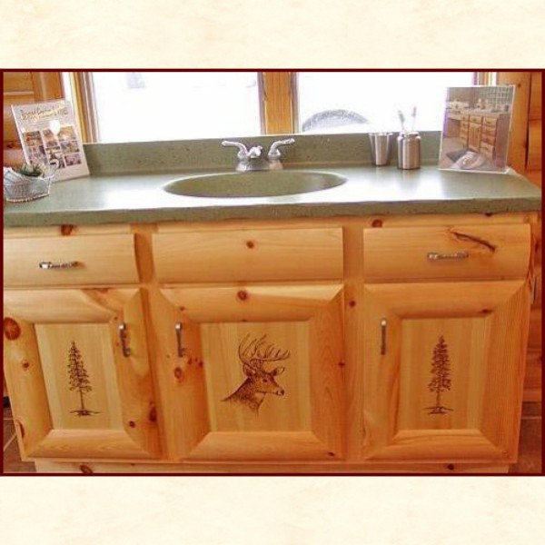 Rustic Cabinets Amp Furniture With Wood Burned Images Wy