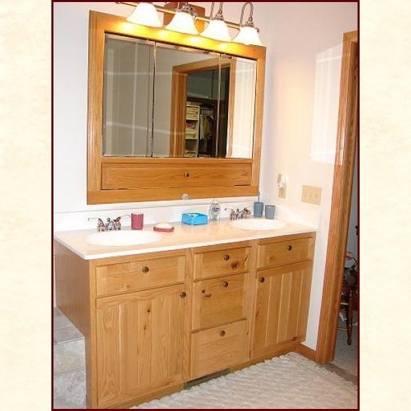 custom built wood bath vanities rustic and traditional styles